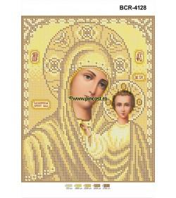 Goblen A4 Maica Domnului Auriu